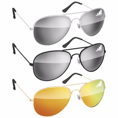 Picture of Metal Aviator Sunglasses - Mirror