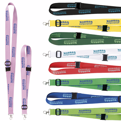 "Picture of 1"" Adjustable Polyester Lanyard"