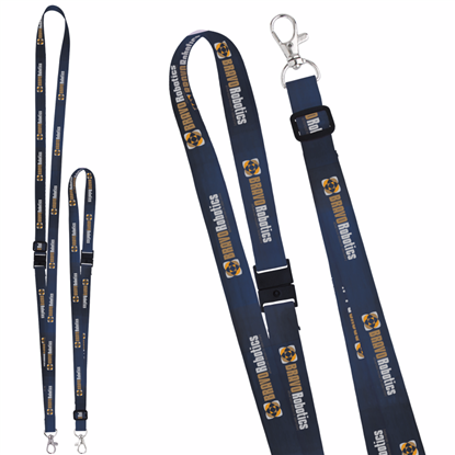 "Picture of 5/8"" Adjustable Polyester 4 Color Lanyard"
