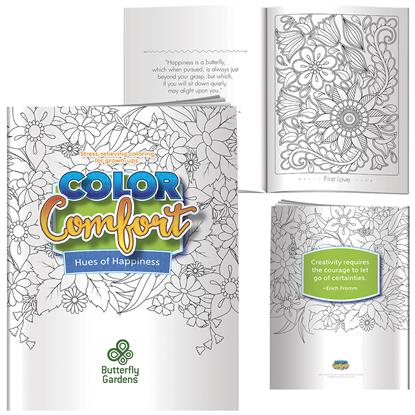 Picture of Adult Coloring Book - Hues of Happiness (Flowers)