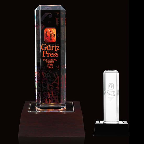 Picture of Vertical Highlight Award with Lighted Base