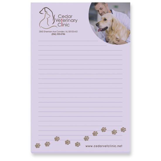 """Picture of BIC® 4"""" x 6"""" Adhesive Notepad, 25 Sheet Pad"""