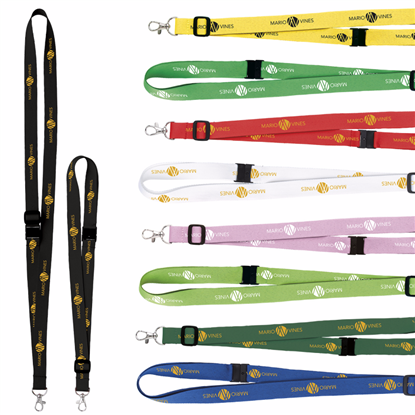 "Picture of 3/4"" Adjustable Polyester Lanyard"