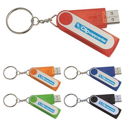 Picture of 2 GB Folding Keyring USB 2.0 Flash Drive