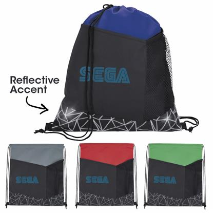Picture of Reflective Geometric Drawstring Backpack
