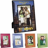 """Picture of 4"""" x 6"""" Colorful Brushed Aluminum Frame"""