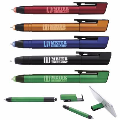 Picture of Colorful Light Up Pen with Stylus and Phone Holder