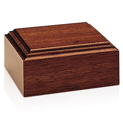 Picture of Mahogany-Tone Wood Base
