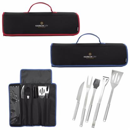 Picture of Koozie® Kamp 5-piece BBQ Set