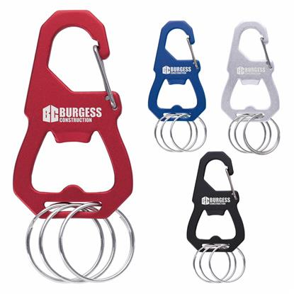 Picture of 3 Keyring Carabiner with Bottle Opener