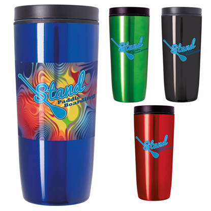 Picture of Custom Accent Stainless Travel Mug – 16 oz. - Colors