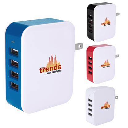 Picture of 4-Port USB Wall Adapter