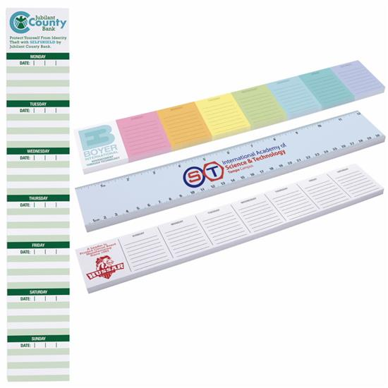 "Picture of BIC®  12"" x 2"" Adhesive Notepad, 25 Sheet Pad"