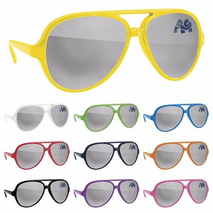 Picture of Plastic Aviator Sunglasses - Mirror
