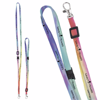 """Picture of 3/8"""" Adjustable Polyester 4 Color Lanyard"""