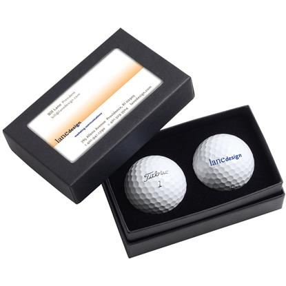Picture of Titleist® 2-Ball Business Card Box - DT TruFeel