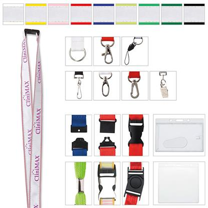 """Picture of 3/4"""" Polyester Lanyard with Ribbon"""