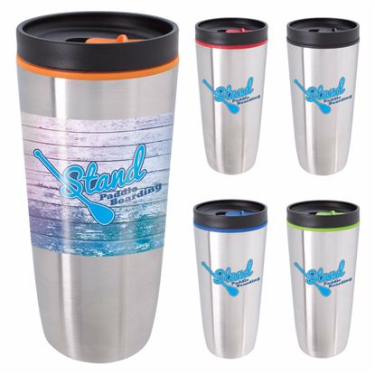 Picture of Custom Accent Stainless Travel Mug – 16 oz.