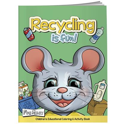 Picture of Coloring Book with Mask: Recycling is Fun!