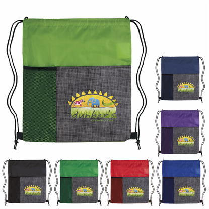 Picture of Select Pattern Drawstring Backpack