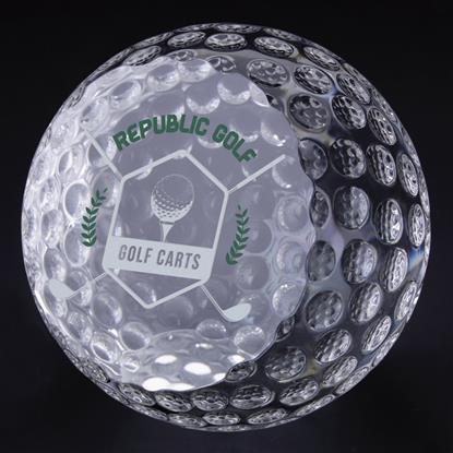 "Picture of Golf Ball Paperweight 3-1/8"" Dia"
