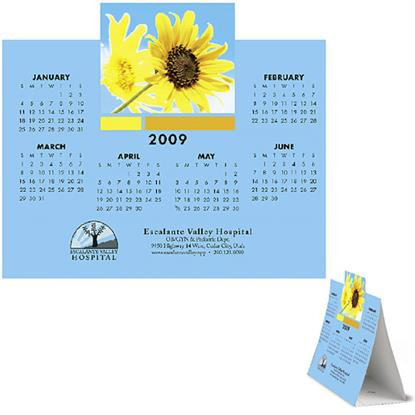 Picture of Die-Cut Custom Tent Calendar