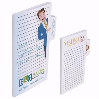 """Picture of BIC® Memo Tabs™ 6"""" x 4"""" Adhesive Notepad, 50 Sheet Pad"""