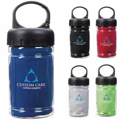 Picture of Carabiner Bottle with Cooling Towel