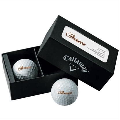 Picture of Callaway® 2-Ball Business Card Box - Supersoft