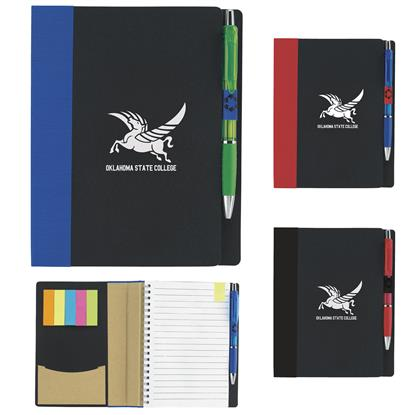 "Picture of 5"" x 7"" ECO Notebook with Flags"