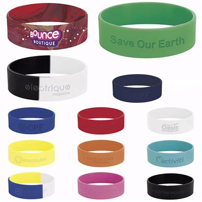 "Picture of 1"" inch Silicone Wrist Band"