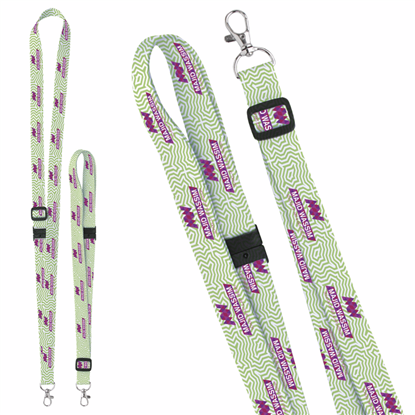 "Picture of 3/4"" Adjustable Polyester 4 Color Lanyard"