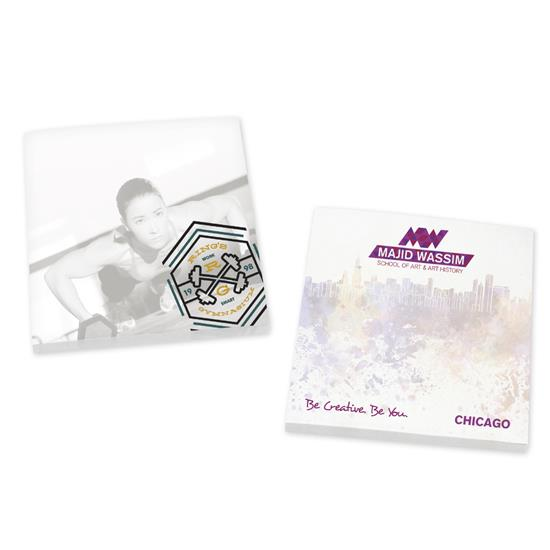 """Picture of BIC® Ecolutions® 3"""" x 3"""" Adhesive Notepad, 25 Sheet Pad"""