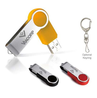 Picture of 1 GB Round Folding USB 2.0 Flash Drive