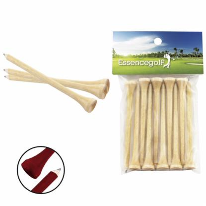Picture of Teecil® Golf Tee and Pencil In One w/Card Topper