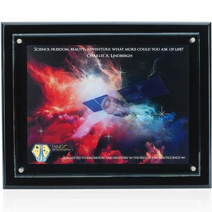 Picture of Floating Glass Plaque