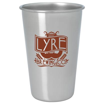 Picture of Stainless Pint Glass - 16 oz.