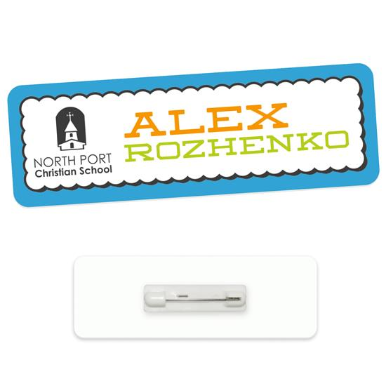 """Picture of 3"""" x 1"""" Economy Name Tag"""