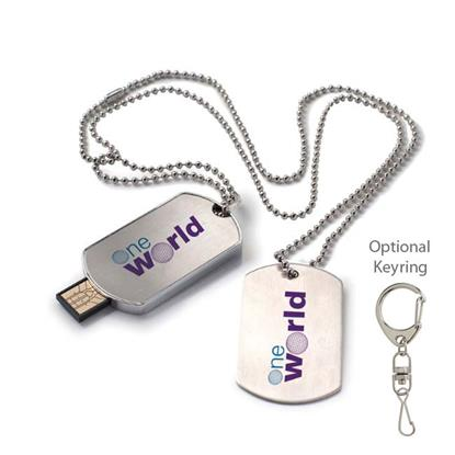 Picture of 8 GB Dog Tag USB 2.0 Flash Drive