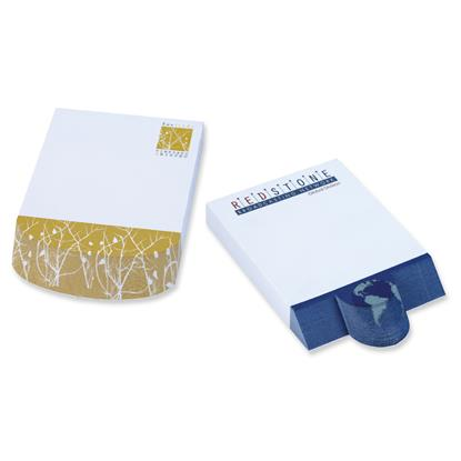 """Picture of BIC® Ecolutions® 4"""" x 6"""" Adhesive Beveled Notepad"""