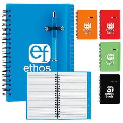 """Picture of 5"""" x 7"""" Journal Notebook with Pen Loop"""