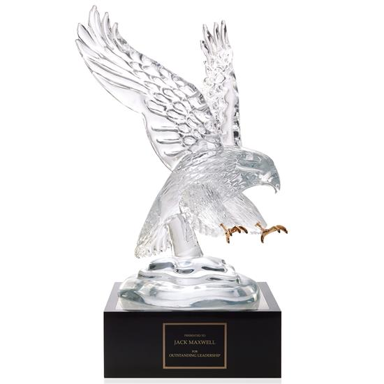 "Picture of Eagle Award with 4"" Lighted Pedestal"