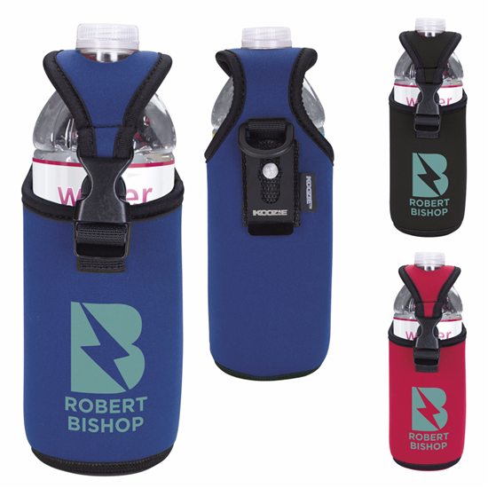 Picture of Koozie® Bottle/Can Kooler with D-ring and Clip