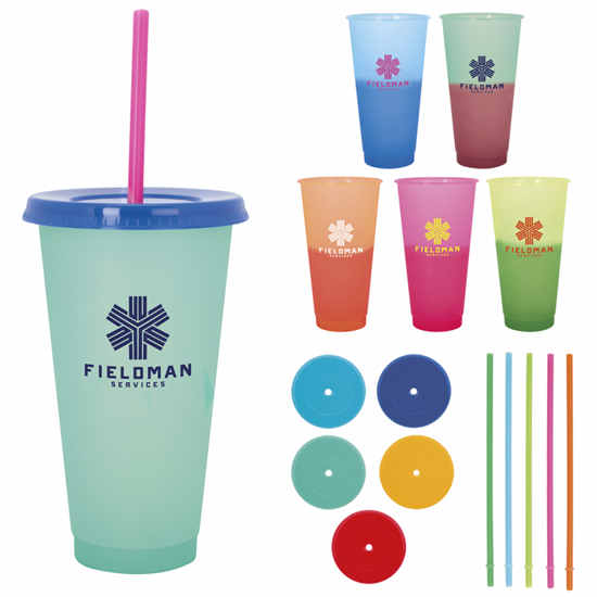Picture of Ronnie Color Changing Tumbler - 24 oz.