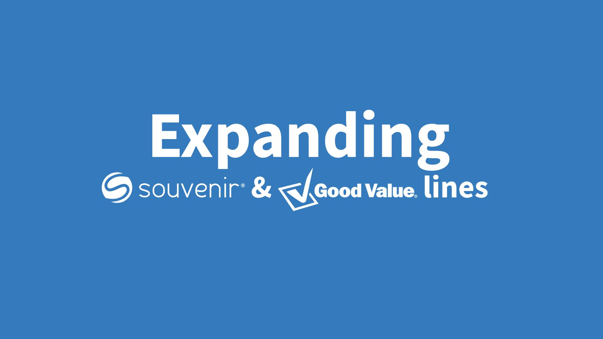 Expanding Souvenir and Good Value lines